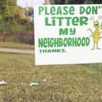 littering yard sign