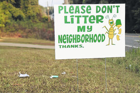 Littering Yard Signs